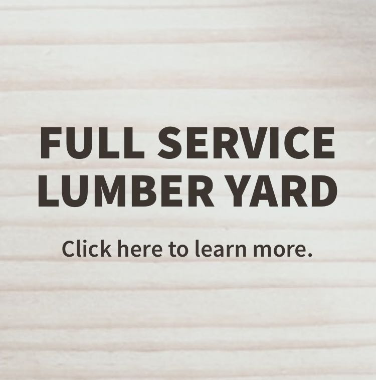 Text Full Service Lumber Yard on a background of wood