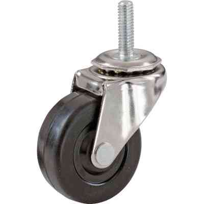 Shepherd 2 In. Rubber Swivel Caster with Threaded Stem