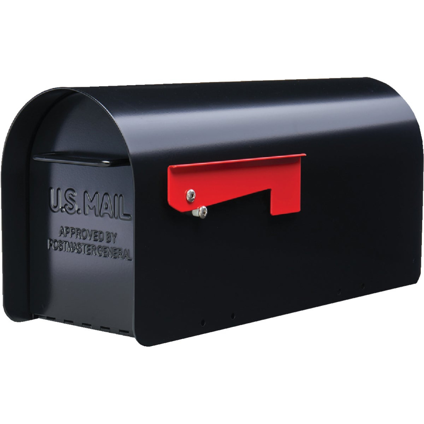 Gibraltar Ironside Black Steel Post Mount Mailbox Image 1