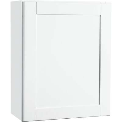 Continental Cabinets Andover Shaker 24 In. W x 30 In. H x 12 In. D White Thermofoil Wall Kitchen Cabinet