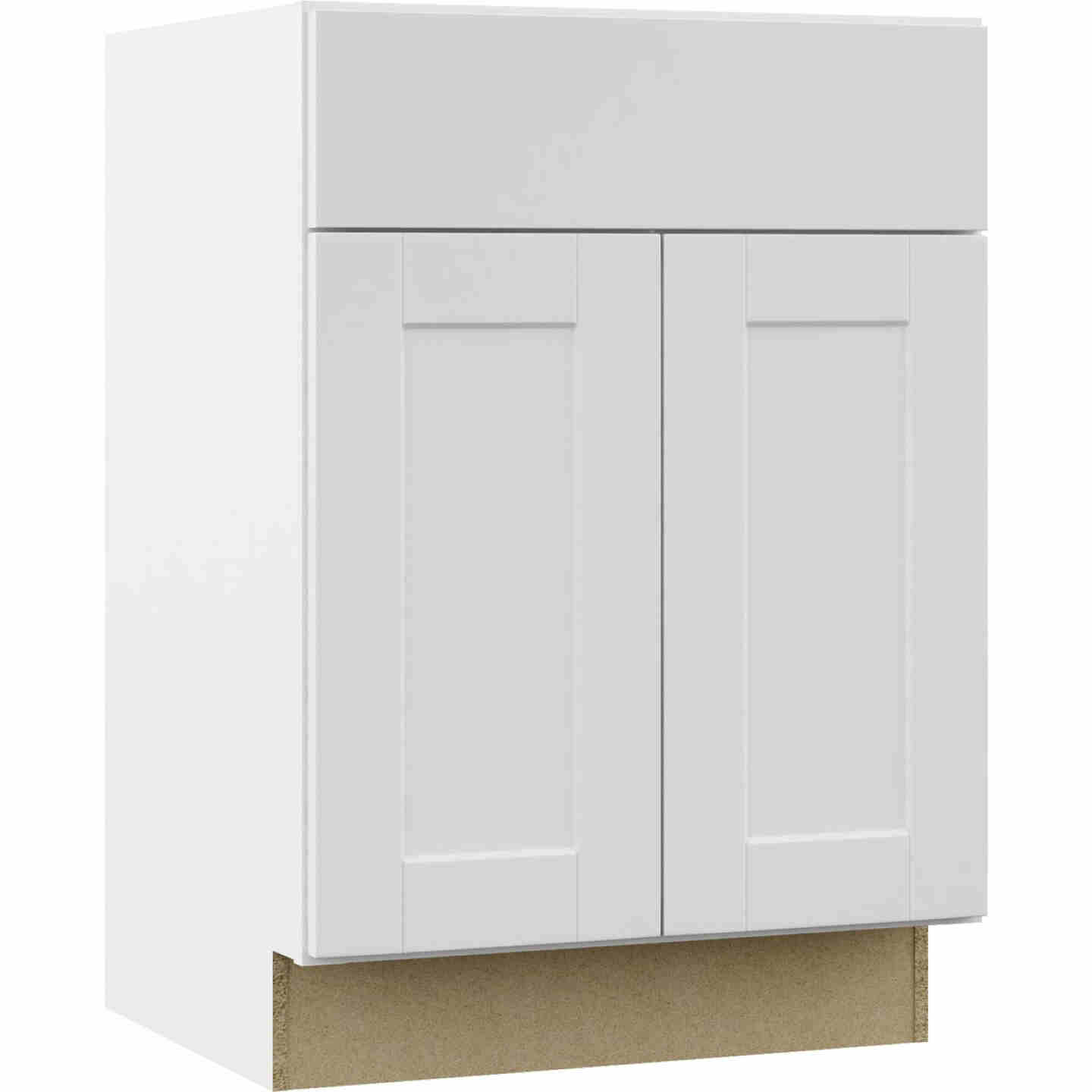 Continental Cabinets Andover Shaker 24 In. W x 34-1/2 In. H x 21 In. D White Vanity Base, 2 Door Image 1