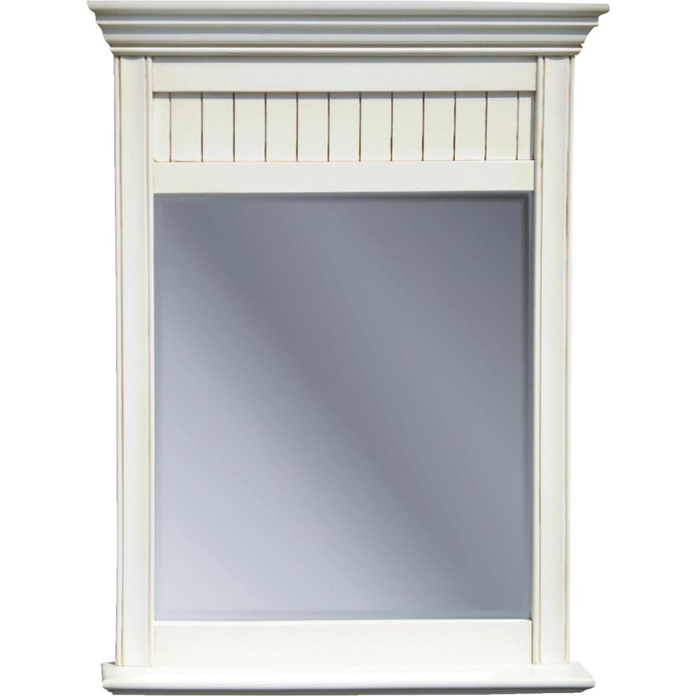 Sunny Wood Bristol Beach White 30 In. W x 40 In. H Vanity Mirror Image 1