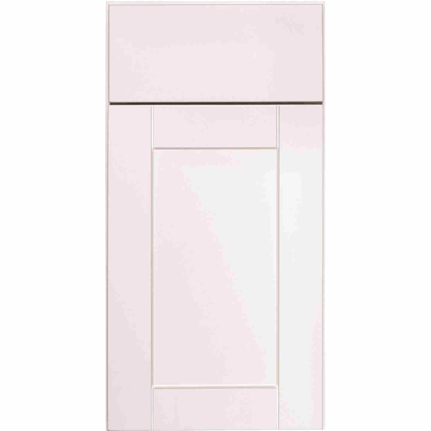 Continental Cabinets Andover Shaker 24 In. W x 34 In. H x 24 In. D White Thermofoil Base Kitchen Cabinet Image 3