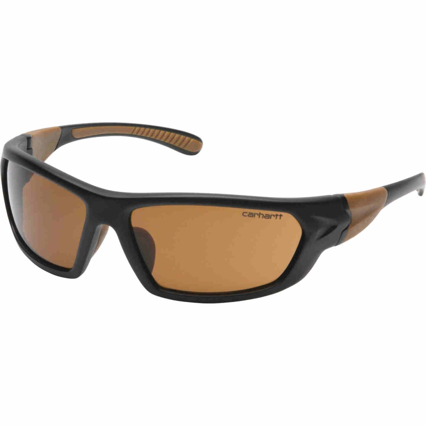 Carhartt Carbondale Black & Tan Frame Safety Glasses with Bronze Lenses Image 1