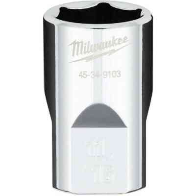 Milwaukee 1/2 In. Drive 11/16 In. 6-Point Shallow Standard Socket with FOUR FLAT Sides