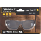 Carhartt Carbondale Black & Tan Frame Safety Glasses with Gray Lenses Image 2