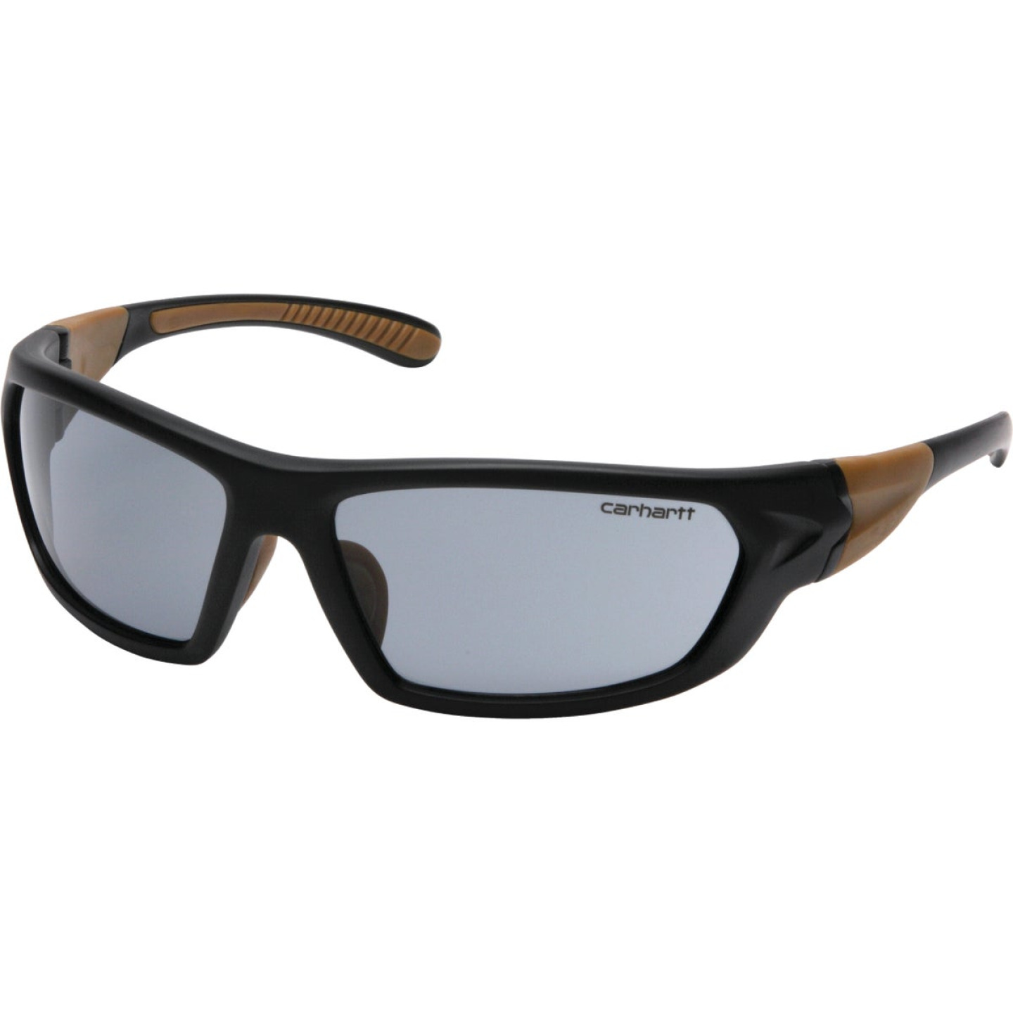 Carhartt Carbondale Black & Tan Frame Safety Glasses with Gray Lenses Image 1