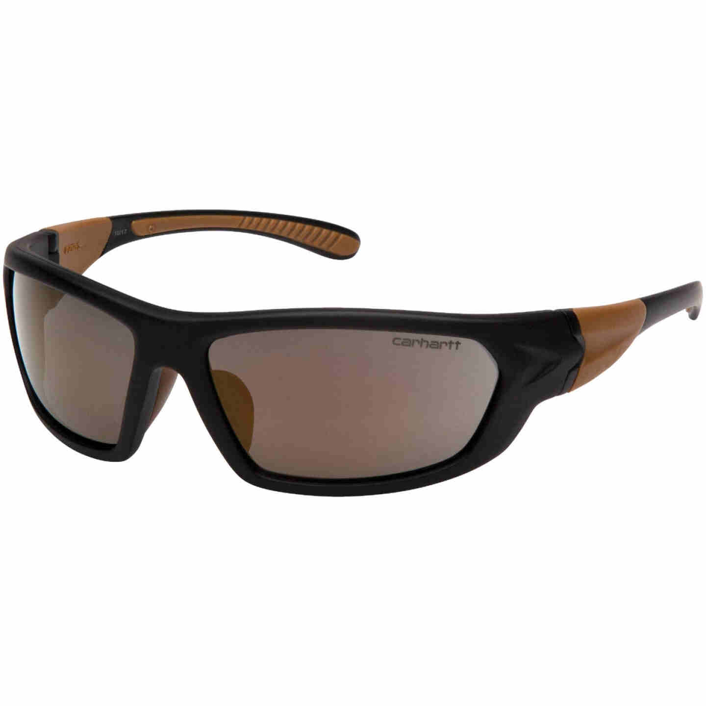 Carhartt Carbondale Black & Tan Frame Safety Glasses with Antique Mirror Lenses Image 1