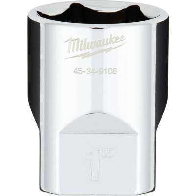 Milwaukee 1/2 In. Drive 1 In. 6-Point Shallow Standard Socket with FOUR FLAT Sides