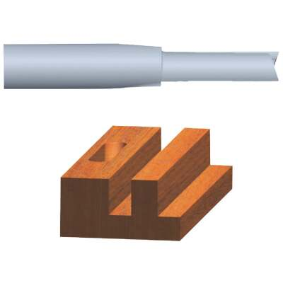 Vermont American Carbide Tip 1/8 In. Straight Bit