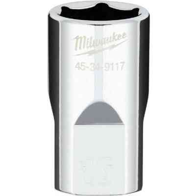 Milwaukee 1/2 In. Drive 16 mm 6-Point Shallow Metric Socket with FOUR FLAT Sides