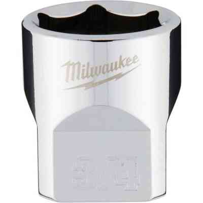 Milwaukee 3/8 In. Drive 3/4 In. 6-Point Shallow Standard Socket with FOUR FLAT Sides