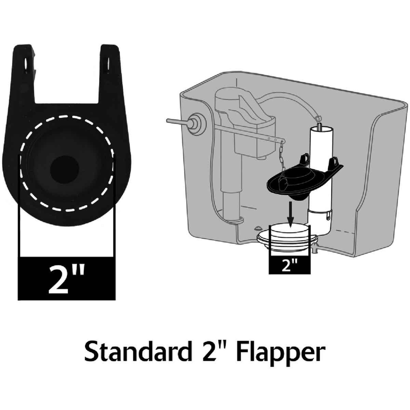 Korky 2 In. Universal Toilet Flapper with Chain  Image 4