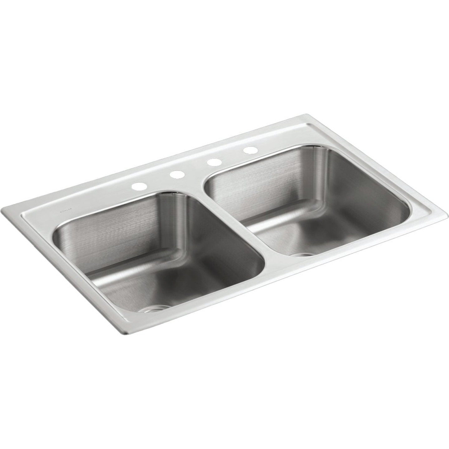 Kohler Toccata Double Bowl 33 In. x 22 In. x 8 In. Deep Stainless Steel Kitchen Sink Image 1