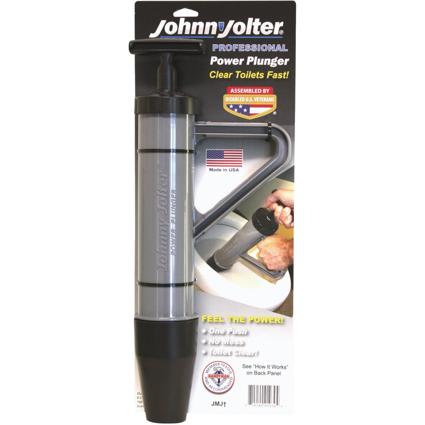 Johnny Jolter Pro Power 3 In. Dia. Toilet Plunger Image 1