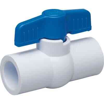 Proline 1-1/2 In. Solvent x 1-1/2 In. Solvent PVC Schedule 40 Quarter Turn Ball Valve, Non-NSF