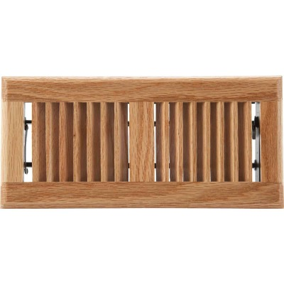 Home Impressions 4 In. x 10 In. Light Oak Floor Register