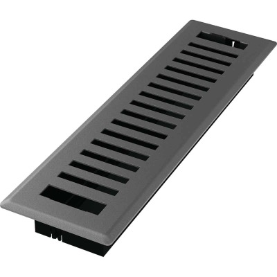 Imperial Montezuma 2-1/4 In. x 12 In. Gray Granite Steel Floor Register