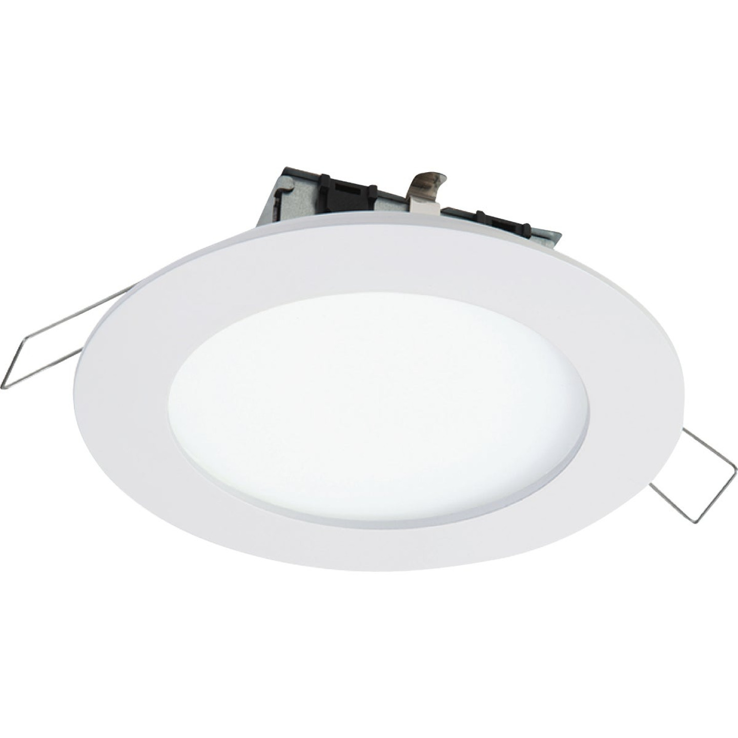 Halo 6 In. Retrofit IC/Non-IC Rated White LED Spring Clip Recessed Light Kit Image 1