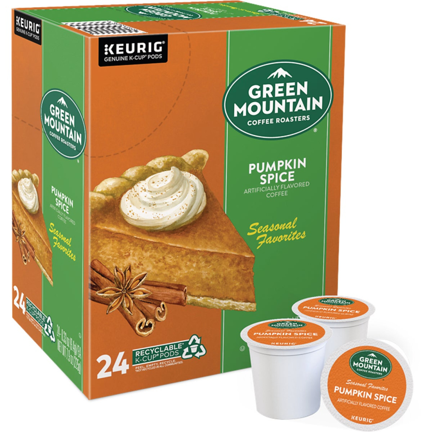 Keurig Green Mountain Coffee Pumpkin Spice K-Cup (24 Pack) Image 1