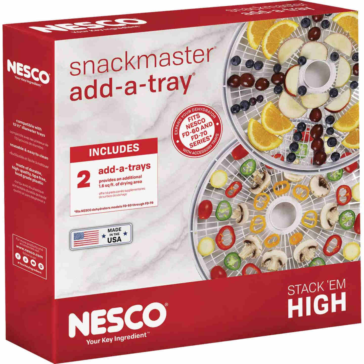 Nesco Snackmaster Add-A-Trays for 60 & 70 Series Dehydrators (2 Count) Image 2