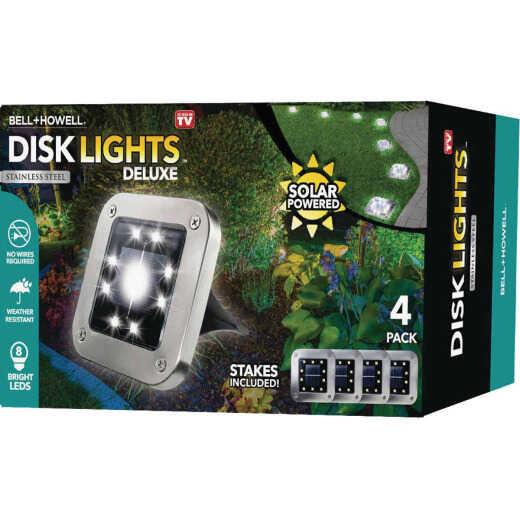 Bell+Howell Solar Powered Disk Lights (4-Pack)