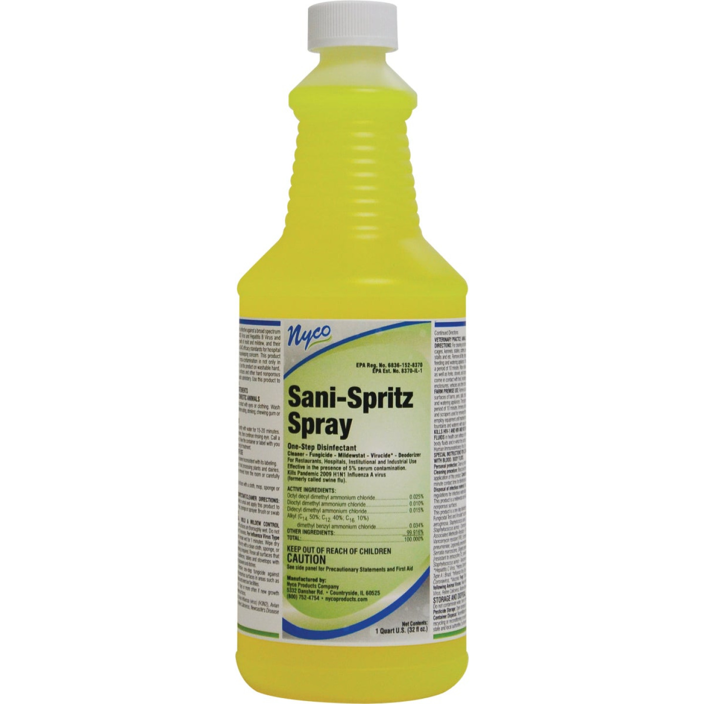 Nyco 1 Qt. Sani-Spritz Spray One-Step Disinfectant Cleaner Refill Image 1