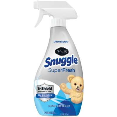Renuzit Snuggle SuperFresh 18 Oz. Linen Escape Fabric Refresher Spray TriShield Odor Protection