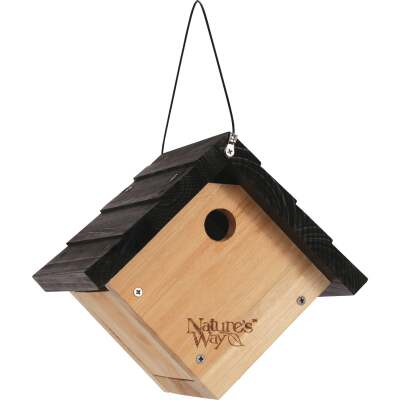 Nature's Way 9 In. W. x 8 In. H. x 8 In. D. Natural Cedar Wren Bird House