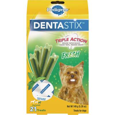 Pedigree Dentastix Toy Dog Fresh Dental Dog Treat (21-Pack)