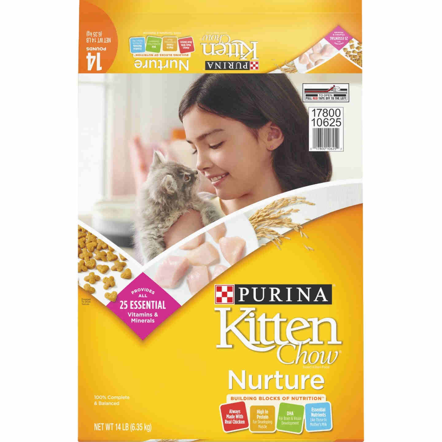 Purina Kitten Chow 14 Lb. Chicken Flavor Dry Kitten Food Image 1