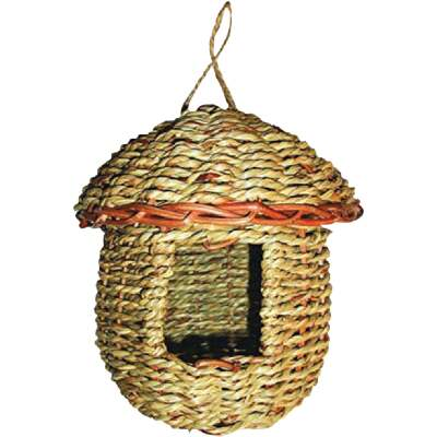 Gardman 8 In. H. x 6 In. Dia. Natural Rope Acorn Bird House
