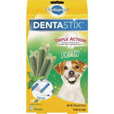 Pedigree Dentastix Small/Medium Dog Fresh Dental Dog Treat (9-Pack)