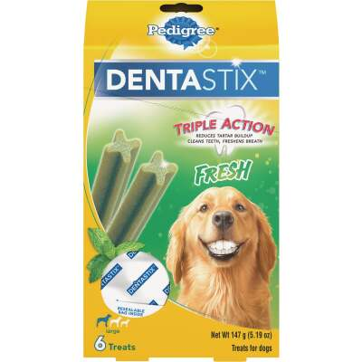 Pedigree Dentastix Large Dog Fresh Dental Dog Treat (6-Pack)
