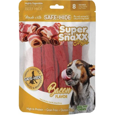Healthy Chews Super SnaXX Strips Bacon Dog Treat (8-Pack)