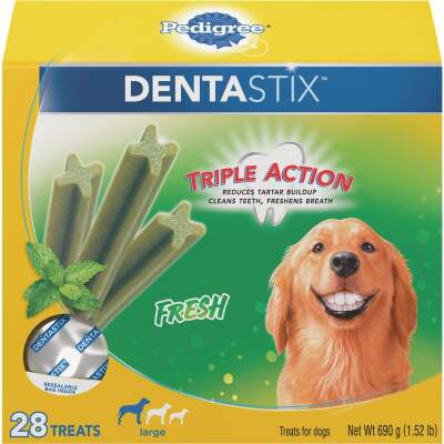 Pedigree Dentastix Large Dog Fresh Dental Dog Treat (28-Pack)