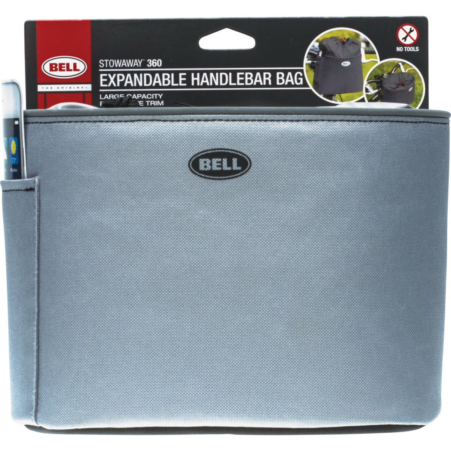 Bell Sports Stowaway 360 5 In. W. x H. 6.5 In. H. x 8.5 In. L. Bicycle Handlebar Bag Image 1
