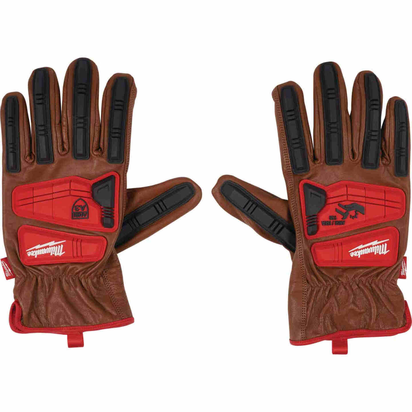 Milwaukee Impact Cut Level 3 Men's XL Goatskin Leather Work Gloves Image 1