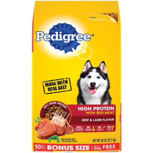 Pedigree 50 Lb. Beef & Lamb High Protein Adult Dry Dog Food