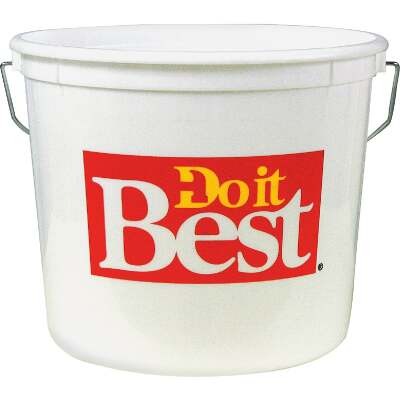 Do it Best 5 Qt. White Polysteel Pail
