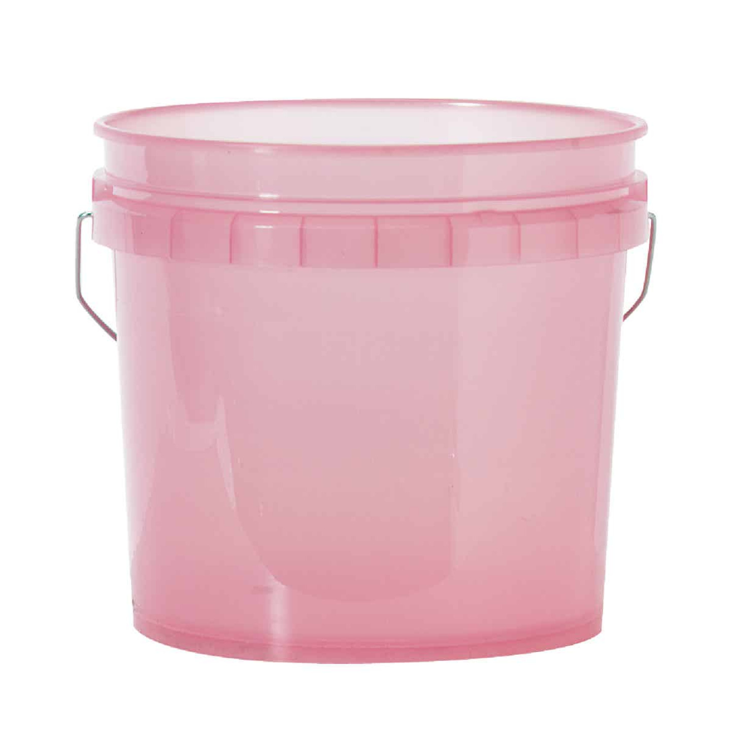 Leaktite 3.5 Gal. Red Translucent Pail Image 1