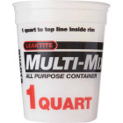 Leaktite 1 Qt. White Multi-Mix All Purpose Mixing And Storage Container Image 3