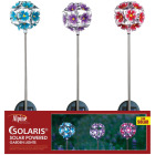 Alpine Metal 33 In. H. Hydrangea Ball Solar Stake Light Image 3