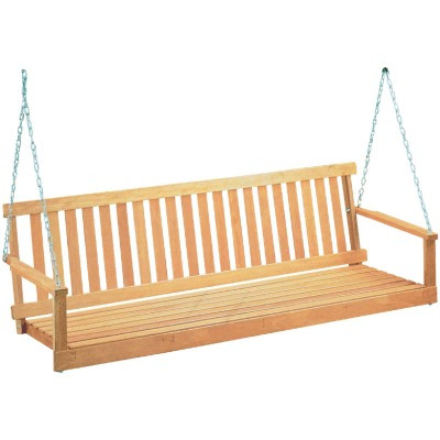 Jack Post Jennings 4 Ft. Natural Hardwood Swing with Chains