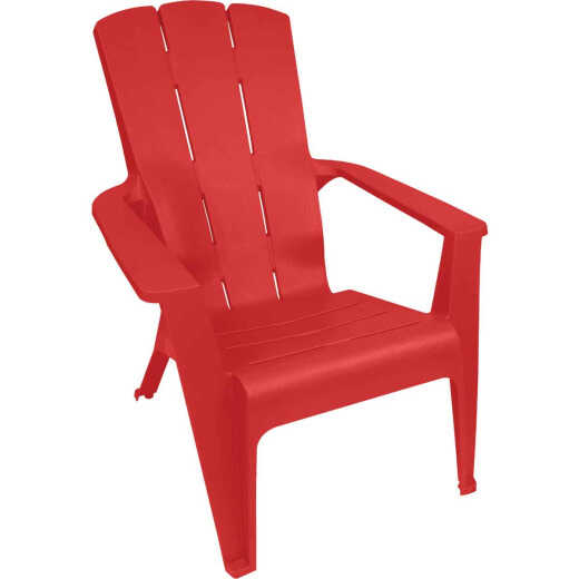Gracious Living Red Explosion Resin Contour Adirondack Chair