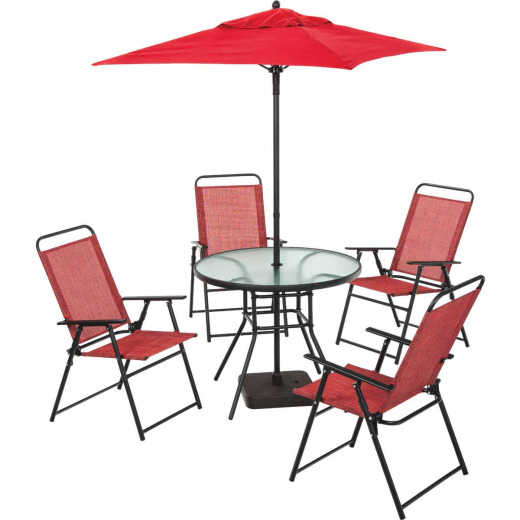 Outdoor Expressions Lakewood 7-Piece Sling Folding Set