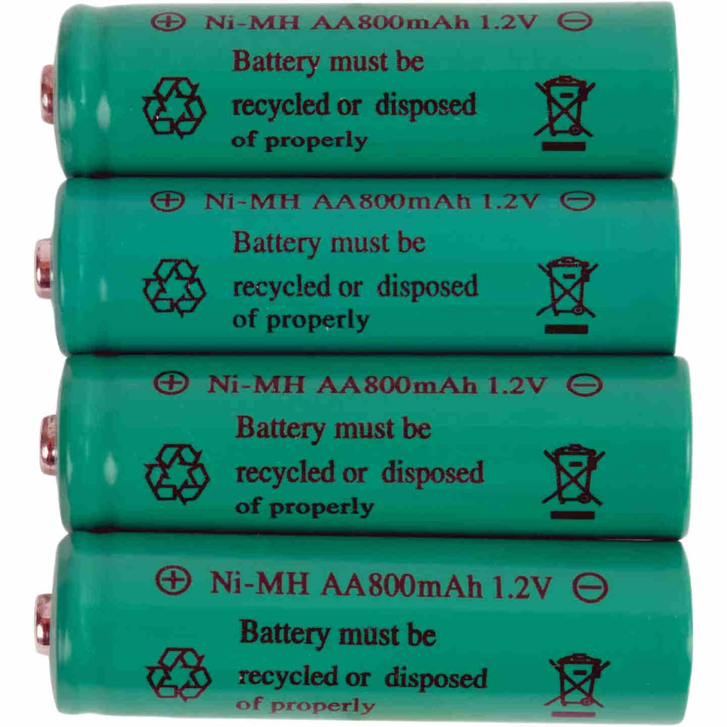 Fusion AA 600 mAh Ni-MH Solar Replacement Battery (4-Pack) Image 2