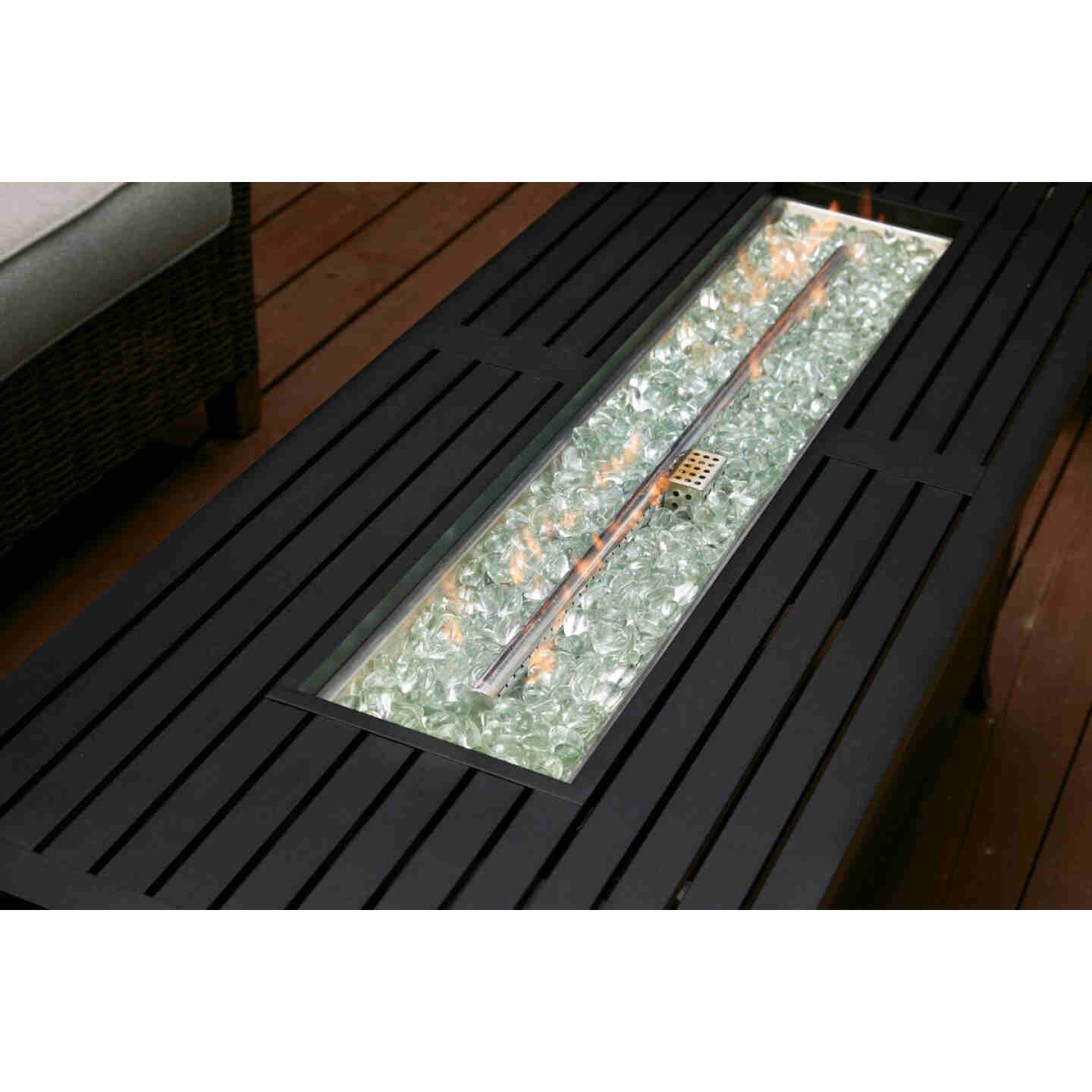 Outdoor Expressions 56 In. x 21 In. Rectangular Propane Fire Pit Table Image 4