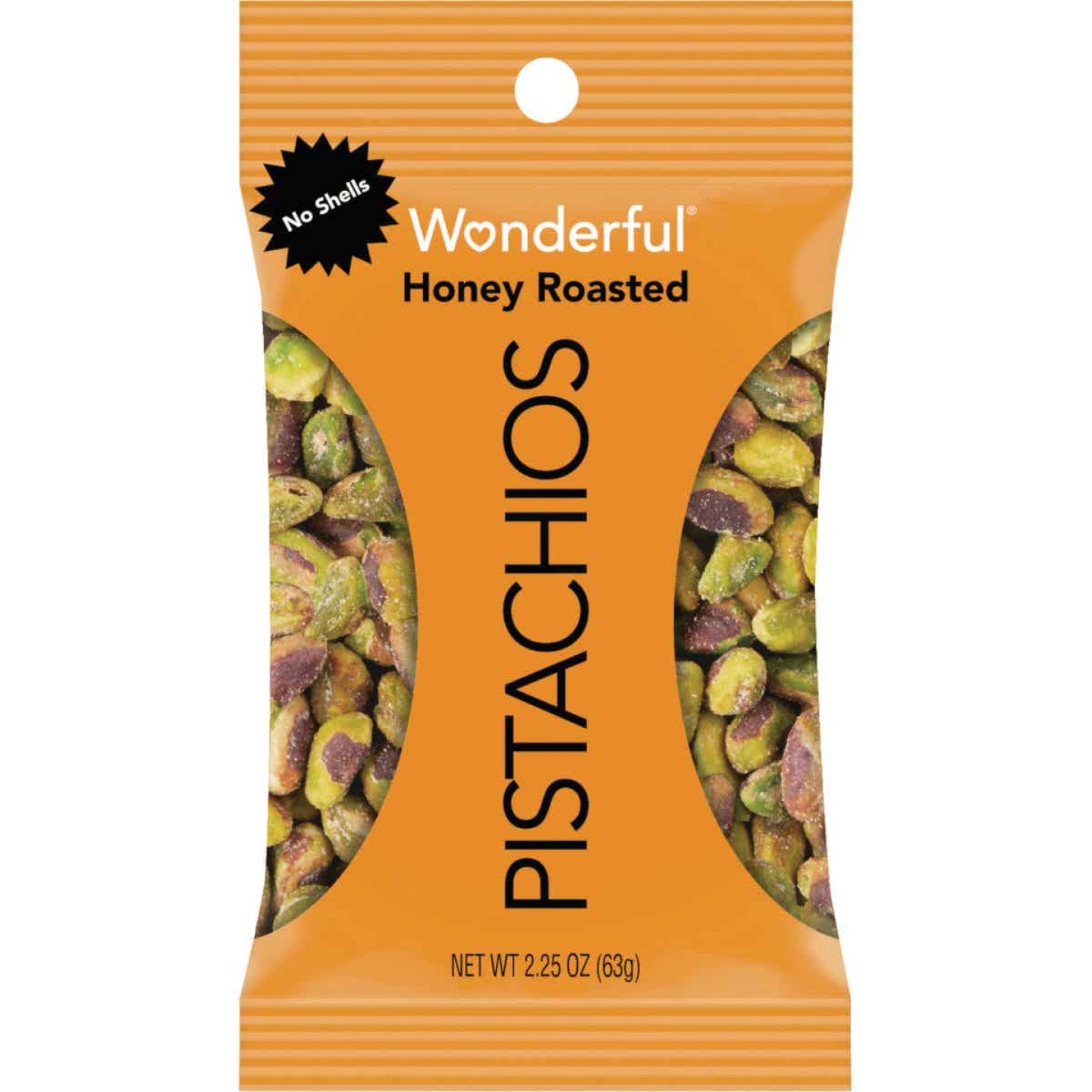 Wonderful 2.25 Oz. Honey Roasted Shelled Pistachios Image 1