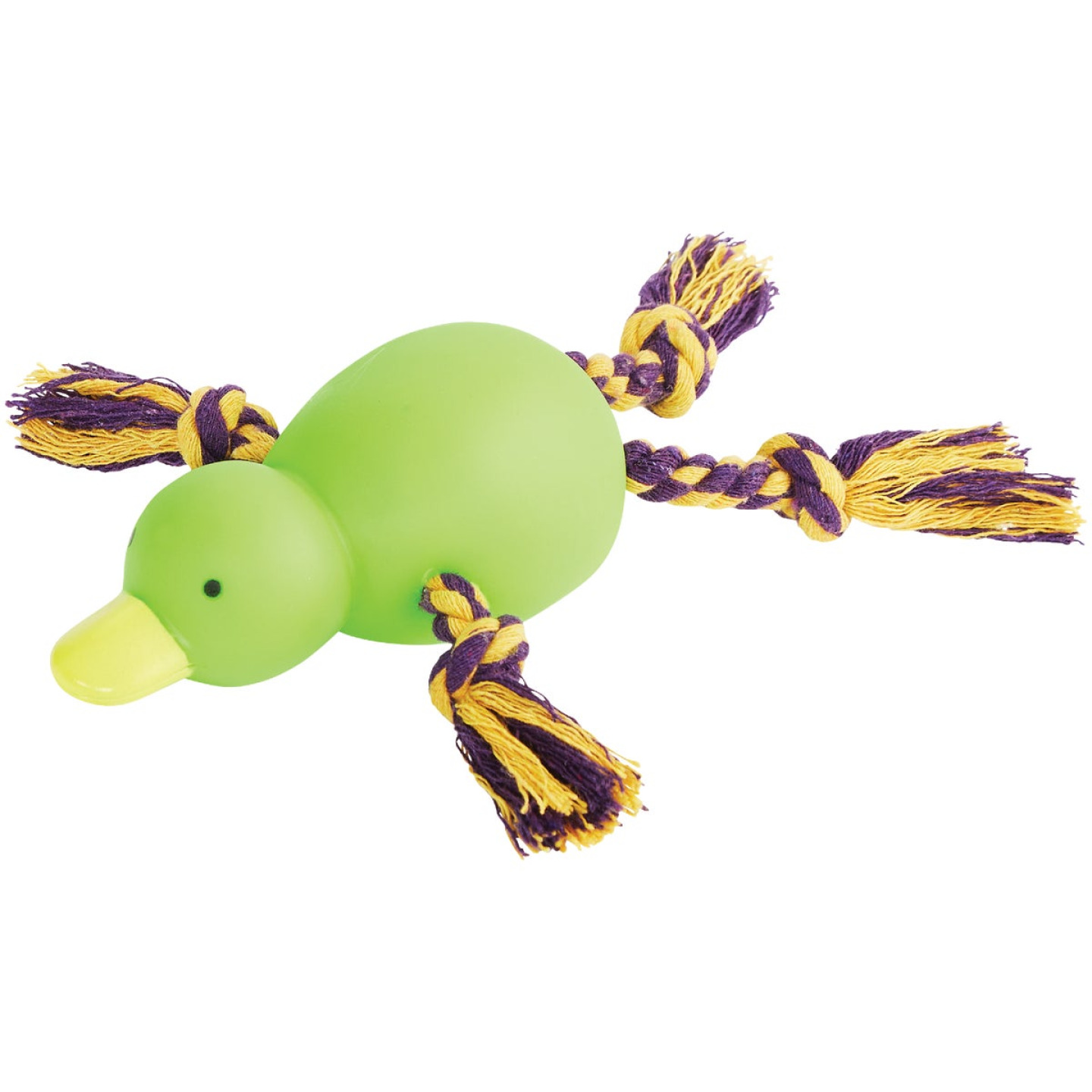 Smart Savers 9 In. Squeaky Duck Dog Toy Image 3